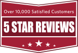 5 star reviews badge